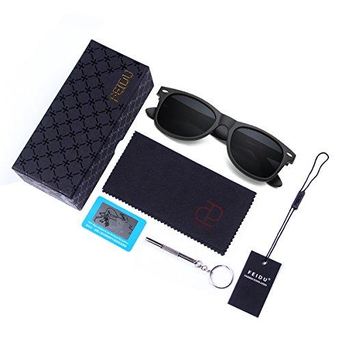 FEIDU Cocoons Fitovers Polarized Sunglasses Aviator (XL) A Matte Black