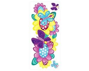 Mariposas y flores 3 pc pared pegatinas decorativas for Plantas decorativas amazon