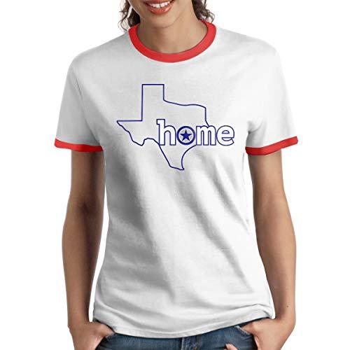 MiiyarHome Women's Ringer T-Shirt Russell Wilson, Ladies Tee Short Sleeves Teen Girls Jersey Shirt Red -