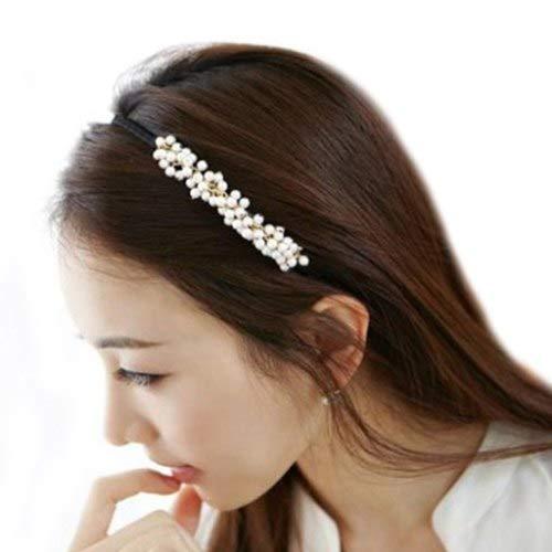 GOP Store Sweet Women Girl Charm Man-Made Pearl Hair Hoop Band Elegant Headband -