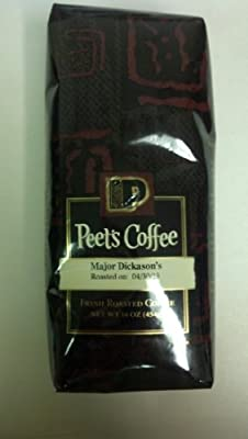 Peet's Major Dickason's Whole Bean Coffee (3 - 12 Ounce Bags)