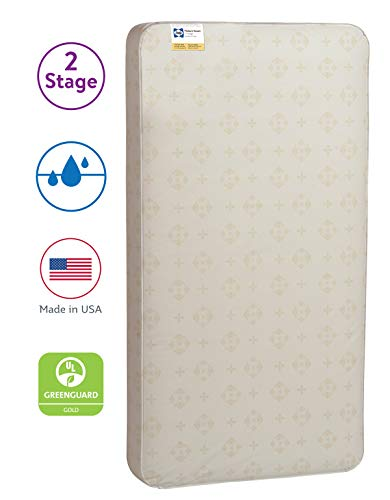 "Sealy Baby Posture 2-Stage Dual Firmness Waterproof Standard Toddler & Baby Crib Mattress, 51.63"" X 27.25"""