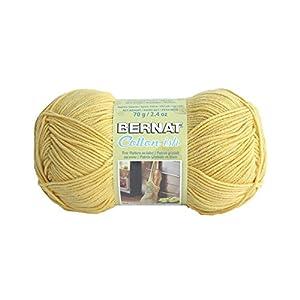 Spinrite Vickie Howell Cotton-ish Yarn, Lemon Twill