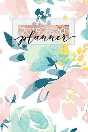 2019-2020 Planner: Floral Watercolor Bloom Weekly & Monthly Schedule Planner August 2019 To July 2020 Timetable | 6