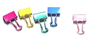 OIC Easy Grip - Pinzas de pala abatibles (32 mm), varios colores metalizados