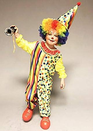Magic Box Disfraz de Payaso de Circo Amarillo para niños XL (10-12 ...