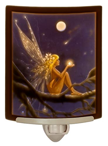 (Catch a Falling Star - Lithophane Curved Color Porcelain Nightlight By Delamare)