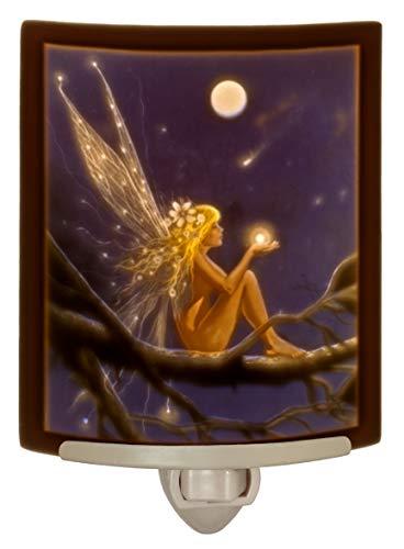 Catch a Falling Star - Lithophane Curved Color Porcelain Nightlight By Delamare - Lithophane Night Light