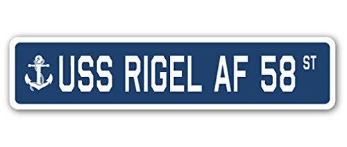 USS Rigel Af 58 Street Sign DECAL STICKER US Navy Veteran (Us Coast Guard Aircraft)