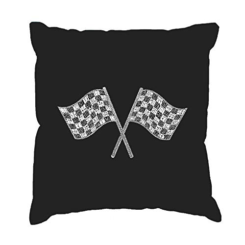 CELYCASY Throw Pillow Cover Word Art Nascar National Series Race Tracks 18x18 inch - Race Series National