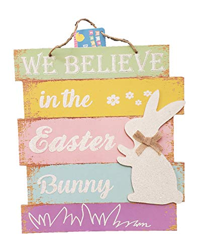 - The Spotted Moose Easter Bunny Hanging Indoor Outdoor Lightweight Welcome Wood Sign