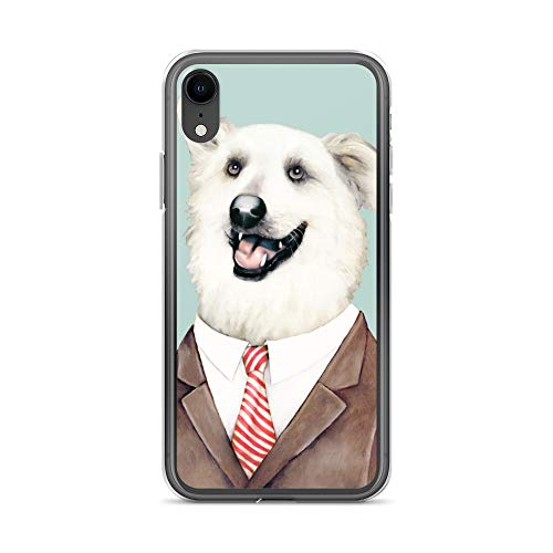 iPhone XR Case Anti-Scratch Creature Animal Transparent Cases Cover Happy Dog Animals Fauna Crystal Clear