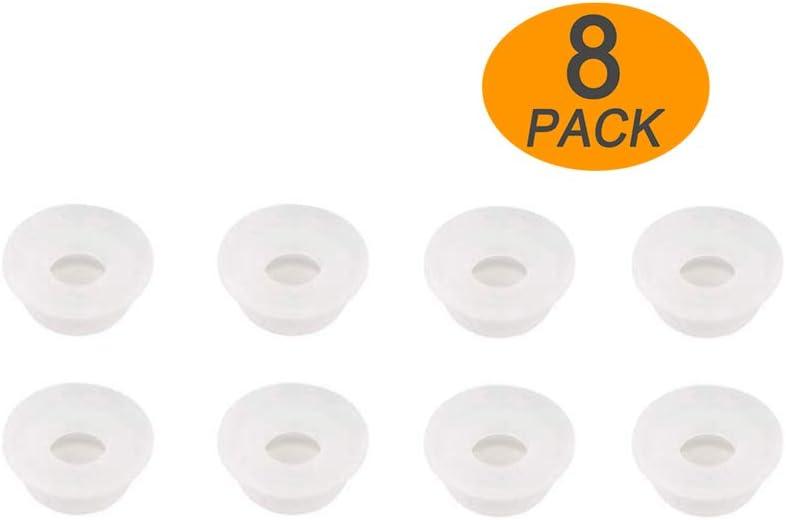 WISH 8 Pack Original Float Valve Gaskets for Instant Pot Duo 3, 5, 6, 8 Quart, Duo Plus 3, 6, 8 Quart, Ultra 3, 6, 8 Quart, Lux 3, 8 Quart, Float Valve Silicone Caps