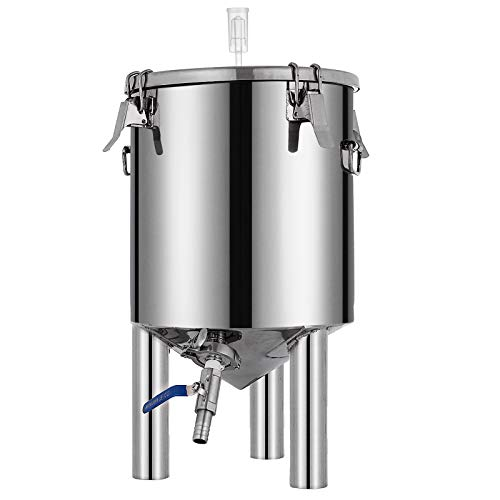 VEVOR 7 Gallon Stainless Steel Brew Fermenter Home Brewing Brew Bucket Fermenter With conical base Brewing Equipment by Vevor (Image #2)