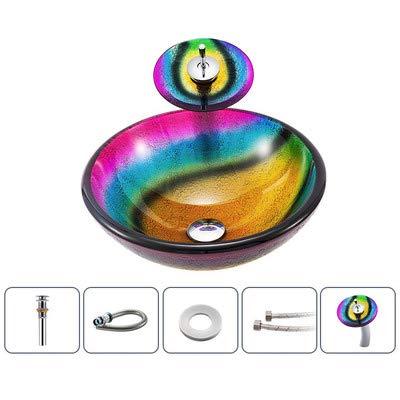 XMZFQ - Fregadero de baño Hecho a Mano con Cristal Artesanal ...