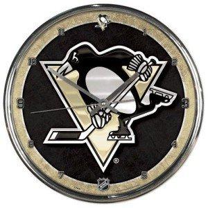 NHL Pittsburgh Penguins Chrome Clock, 12