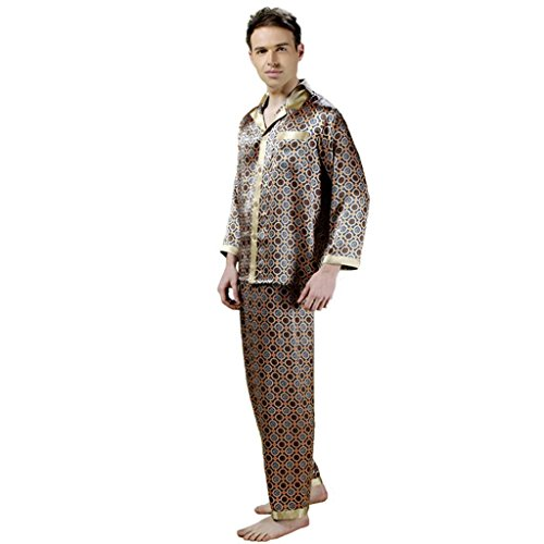 Forever Angel Men's 100% Silk Pajamas Luxury Sleepwear Gift Size XL