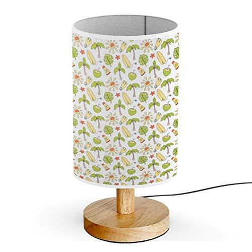 ARTSYLAMP - Wood Base Decoration Desk Table Bedside Light Lamp [ Coconut Palm Surf Board ]