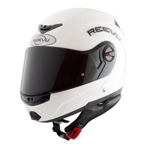Reevu FSX1 Rear-View Motorcycle Helmet - White Gloss - XL