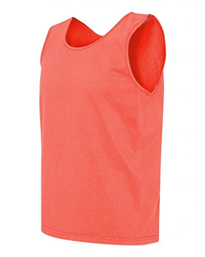 (Comfort Colors - Pigment Dyed Tank Top - Neon Red Orange - 3X-Large)
