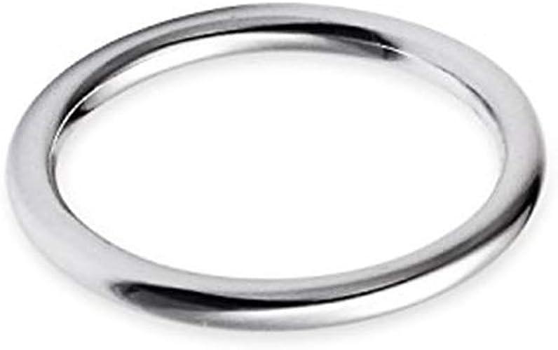 14k White Gold 2mm Comfort Fit Plain Wedding Band Ring Sizes 5-13