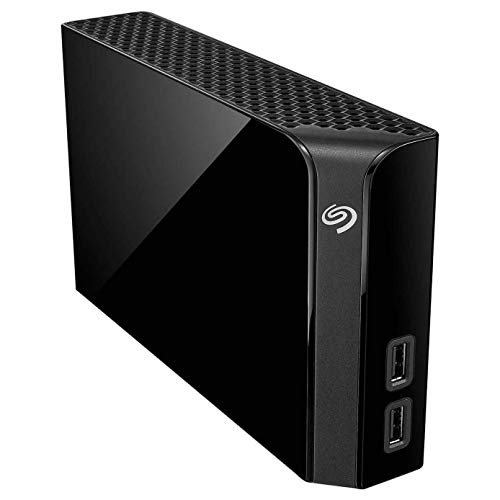 Seagate Backup Plus Hub 8TB Desktop Hard Drive with Rescue Data Recovery Services