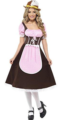7d07fe3c063 Ladies Longer Length Tavern Girl Brown Oktoberfest Serving Wench Hen Do  International Beer Festival Fancy Dress Costume Outfit UK 8-22 Plus Size   ...