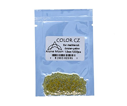 Alone Moon Colour Cubic Zirconia Loose Gemstones Round Europe Machine Cut 1.0-6.0mm High Temperature Wax Setting for Jewelry Making,Golden-Yellow.5mm@0pcs