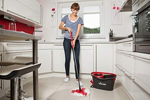 Amazon.com: Vileda Easy Wring and Clean Turbo Microfibre Mop and Bucket Set: Home & Kitchen