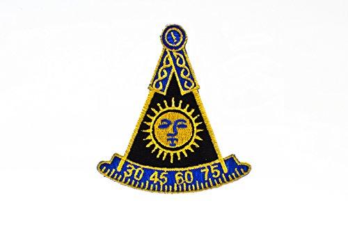 F&AM Past Master No Square Masonic Freemason Patch