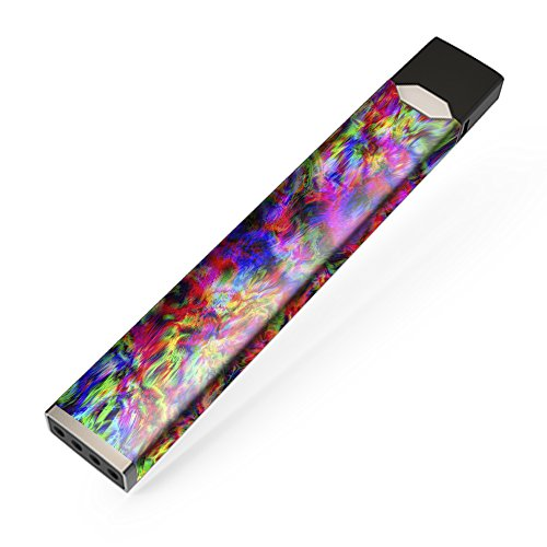 Skin Decal Vinyl Wrap for JUUL Vape Stickers Skins Cover/Tye dye fibers Felt tie die Colorful