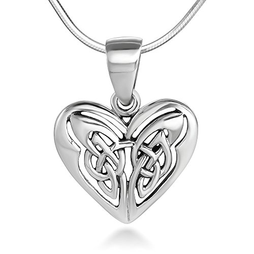Sterling Silver 13 mm Open Heart Celtic  - Antique Celtic Knot Shopping Results