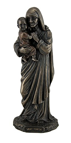 Resin Statues Saint Teresa Of Calcutta Standing Holding Child Statue 9 Inch 3.25 X 8.5 X 3 Inches (Mother Holding Child Statue)