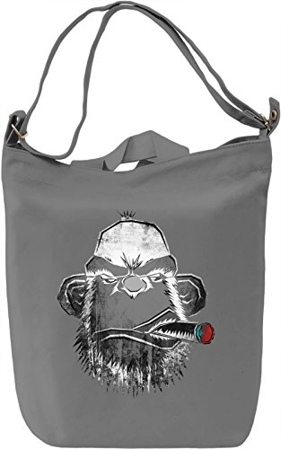 Cigar Monkey Borsa Giornaliera Canvas Canvas Day Bag| 100% Premium Cotton Canvas| DTG Printing|
