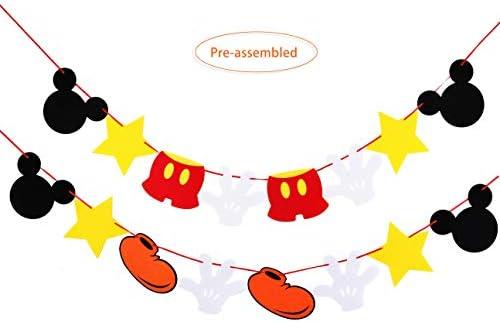 WCOSAM Guirnalda de Fieltro de Mickey Mouse (Gran tamaño ...