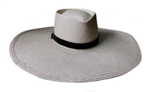 Alpakaandmore Marinera Panama Hat, Handmade, Peruvian Toquilla Palm Straw (X-Large)