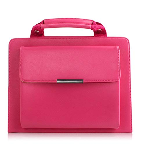 - 3rd Generation iPad Air Cover, elecfan Business Briefcase with Handle Strap Wallet Pocket Full Body Protective Smart Handbag Sleeve for 2017 iPad Pro 10.5 inch/2019 iPad Air 3 10.5 inch, Hot Pink