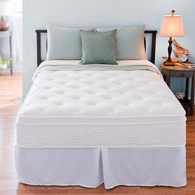 Night Therapy Spring 12 Inch Euro Box Top Mattress and SmartBase Complete Set, Twin
