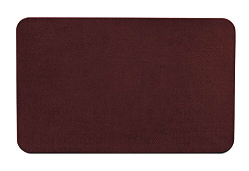 House, Home and More Skid-Resistant Carpet Indoor Area Rug Floor Mat - Burgundy Red - 2 Feet X 3 Feet