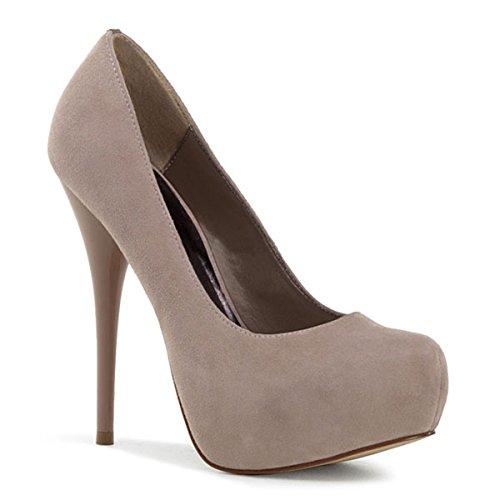 Heels-Perfect - Zapatos de vestir de cuero para mujer beige beige beige - beige