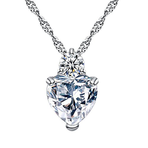 Price comparison product image Emubody Crystal Heart Necklace For Women Romantic Fashion Classic Luxury Rhinestones Pen