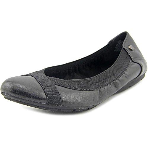 Anne Klein Womens Insure Round Toe Ballet Flats, Black/Black, Size 6.0
