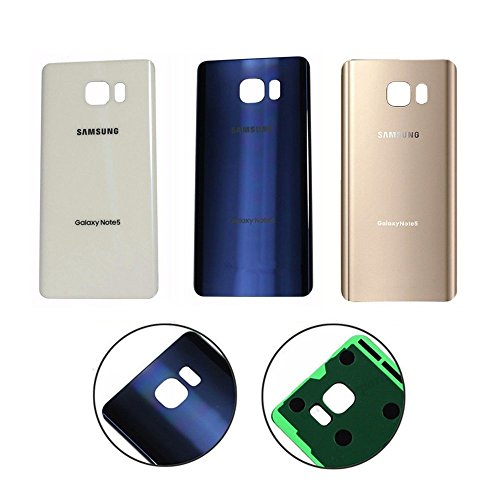 For Samsung Galaxy Note 5 OEM Rear Housing Back Case Battery Door Cover with Adhesive Pre-installed (Gold) (Cover Rear Battery)