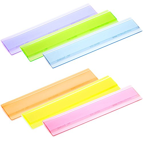 Learning Loft Eye Lighter Colored Overlays for Reading, Assorted, 6 Piece