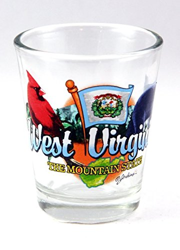 UPC 608819298665, West Virginia Mountain State Elements Shot Glass