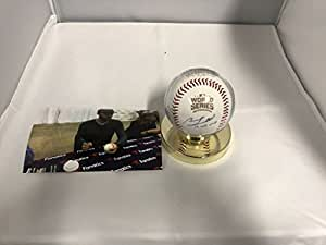 Ben Zobrist Autographed Signed Chicago Cubs World Series MLB Baseball INSCRIBED WS MVP With Display Case Included COA & Hologram