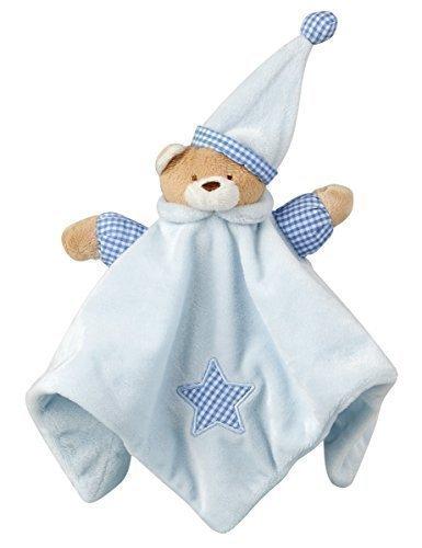 Bebé Recién Nacido Rosa Azul Osito De Peluche Dudú Marioneta Juguetes Suaves Regalo Calentitas Manta - Azul