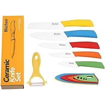Amazon Com Bluchen Ceramic Knife Set Kitchen Knives