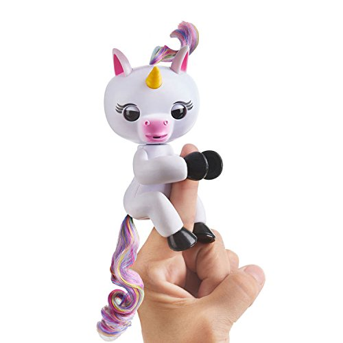 Fingerlings Interactive Baby Unicorn, Pet Kids Smart Colorful Fingers Smart Induction Electronic Toys, Mini Smart Sensor Finger Horns Horse Toy plaything bauble knickknack for Kids Children (Pink)