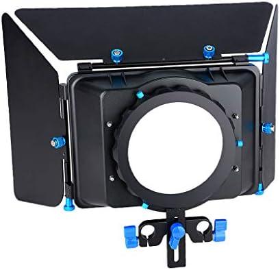 KESOTO マットボックス DSLR装備 簡易式 一眼レフカメラ DVカメラ用 15mmレールロッド用